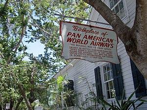 "Pan American World Airways - ""Birthplace of Pan American World Airways"", Key West, Florida"