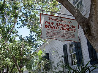 "Pan American World Airways - ""Birthplace of Pan American World Airways"", Key West, Florida"