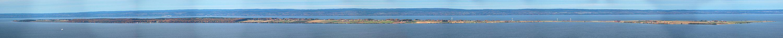 Panorama over Visingsö fra Brahehus