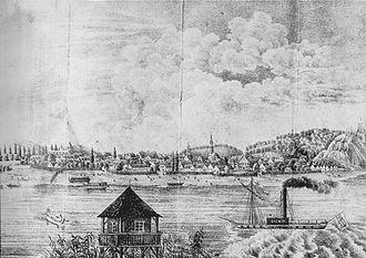 Zemun - Panoramic view of Zemun, 19th century