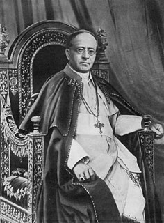 Pope Pius XI 20th-century Catholic pope