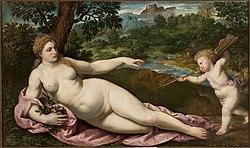 Paris Bordone: Venus and Cupid