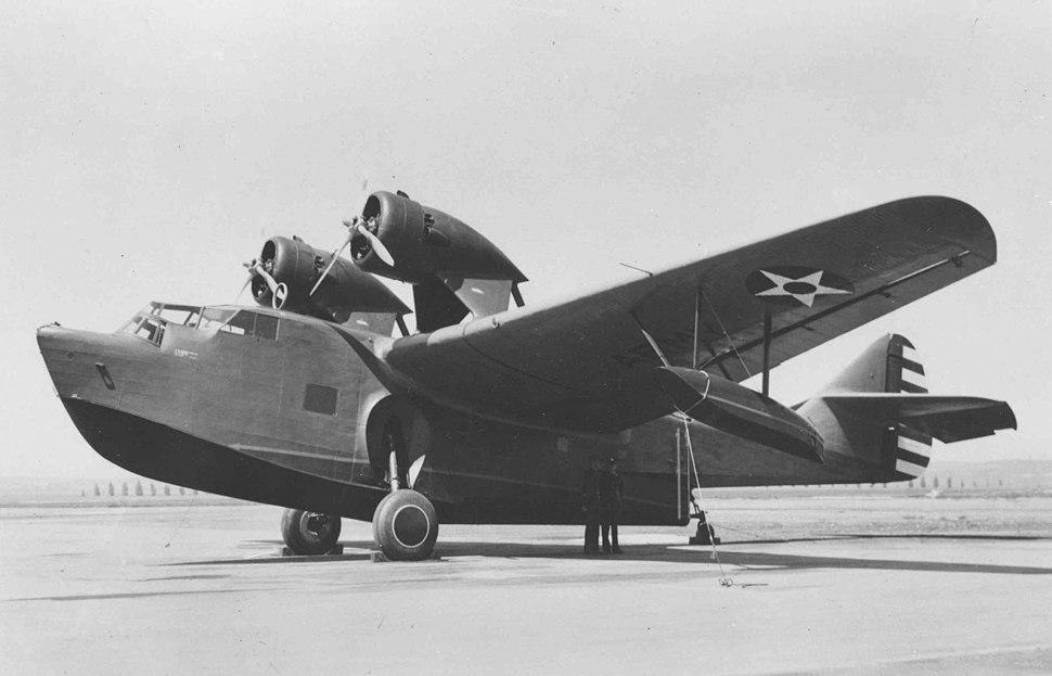 Parked Douglas YB-11