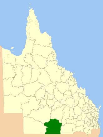 Shire of Paroo - Location in Queensland