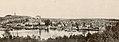 Part of panorama photo of Tønsberg, Vestfold - Riksantikvaren-T084 01 0527 from 1908 - Slottsfjellet, Slottsfjellstårnet, Slottsfjellsmuseet, Slottsfjellskolen, Tønsberg domkirke, Tønsberg gamle stasjon, hotell, brygga, tollboden,.jpg