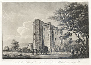Part of the castle of Cardiff where prince Robert was confined