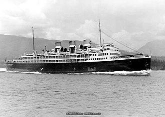 HMCS Prince David (F89) - CNSS Prince David, Vancouver, BC., Aug. 1930
