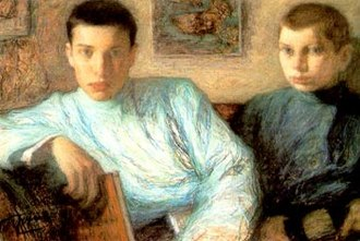 Boris Pasternak - Boris (left) with his brother Alex; painting by their father, Leonid Pasternak