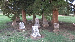 National Register of Historic Places listings in Nowata County, Oklahoma - Image: Patent cemetery 110 Nowata County