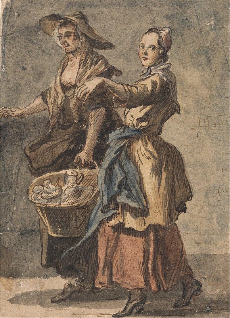 Пол Сэндби - Две женщины с корзиной в руках - Google Art Project.jpg