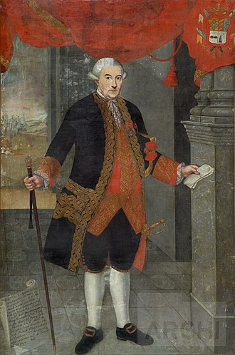 Baztan, Navarre - Portrait of Agustín de Jáuregui y Aldecoa, Viceroy of Peru