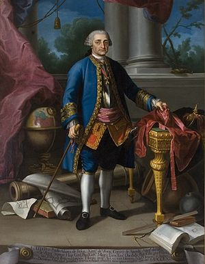 Pedro Pablo Abarca de Bolea, 10th Count of Aranda - Portrait of Aranda by Ramón Bayeu (Museo de Huesca)