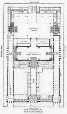 Pennsylvania Station street level floor plan