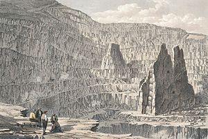 Penrhyn Quarry - Penrhyn Slate Quarry, 1852