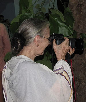 Pepita Seth - Pepita Seth taking photograph