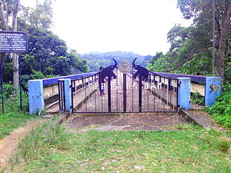 Peppara Wildlife Sanctuary - Image: Peppara Dam Reservoir Gate IMG 20141003 174618