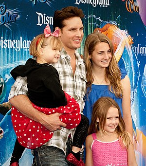 Peter Facinelli - Facinelli with his daughters Luca, Lola, and Fiona at the World of Color premiere at Disney California Adventure on June 10, 2010