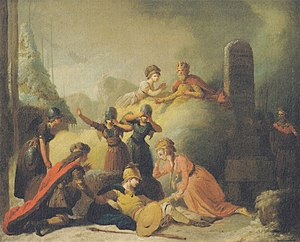 Johannes Ewald - A tableau from the final scene of Balders Død, by Peter Cramer.