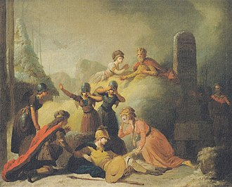 "Peter Cramer - A Scene from ""Balder's Death"" by Johannes Ewald."
