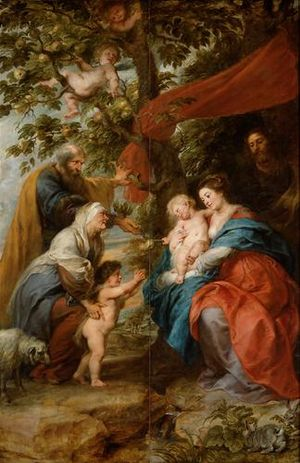 The Holy Family under the Apple Tree