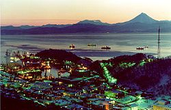 Petropavlovsk-Kamchatsky at night