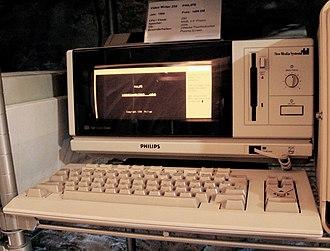 VideoWriter - Philips VideoWRITER 450 (1988) with German keyboard
