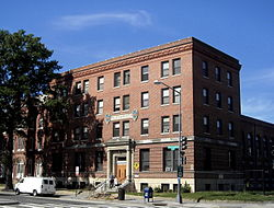 The Phillis Wheatley YWCA, built in 1920, is listed on the National Register of Historic Places