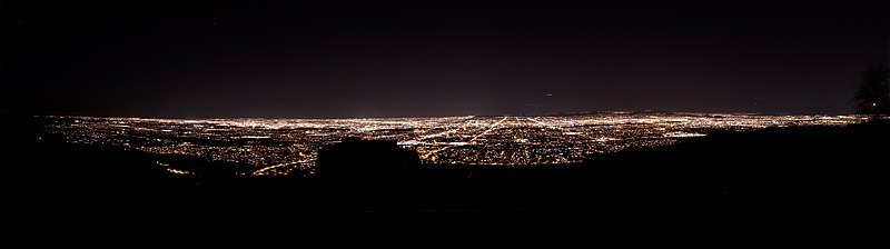 Phoenix Skyline from South Mountain at Night - 2010
