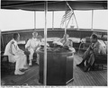 Photograph taken during the vacation cruise of President Harry S. Truman to Bermuda. On the fantail of the U. S. S.... - NARA - 198625.tif
