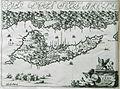 Pianta dell Isola di Corfu con Parte della Grecia - Dapper Olfert - 1688.jpg