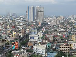 Aerial view of Sampaloc, Manila