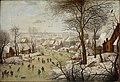 Pieter Brueghel de Jonge - Winterlandschap met vogelval (Brukenthal Museum).jpg