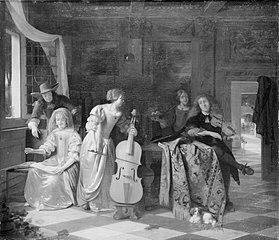 Merry Company with five figures