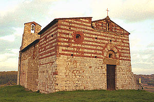 Colle di Val d'Elsa - Romanesque Pieve of SS. Ippolito and Cassiano.