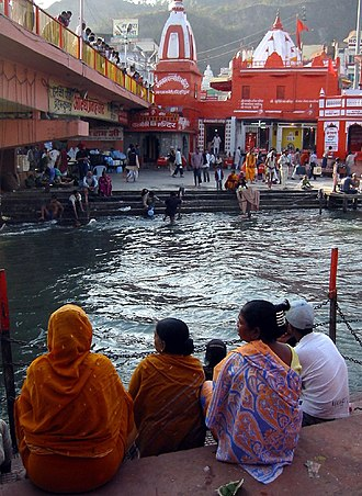 Har Ki Pauri - Asthi Pravah Ghat, for immersion of ashes, built in 1937 by Ganga Sabha