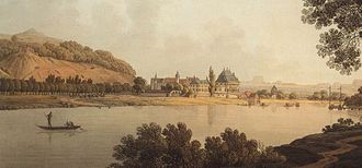 Pillnitz Castle - The castle in 1800