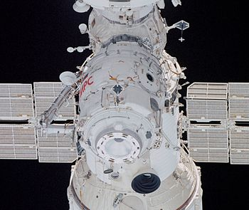 Pirs docking module taken by STS-108 (NASA) or...