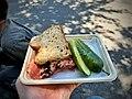 Pit smoked pastrami brisket, pickles.jpg
