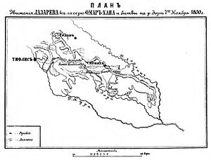 Prince Aleksandre of Georgia - Map of the campaign in Kakheti in 1800
