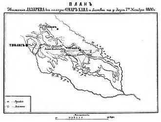 Prince Aleksandre of Georgia - Map of the campaign in Kakheti in 1800
