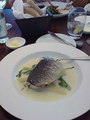 Gordon Ramsay Plane Food - A sea bream dish served at Plane Food