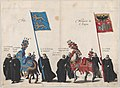 Plate 34- Men with heraldic flags and horses from Frise and the Hapsburg Empire marching in the funeral procession of Archduke Albert of Austria; from 'Pompa Funebris ... Alberti Pii' MET DP874770.jpg