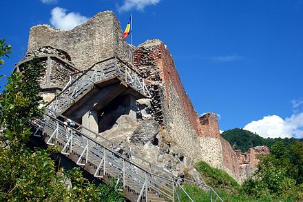 Poienari Castle, one of the royal seats of Vlad III Dracul PoienariCastle1.jpg