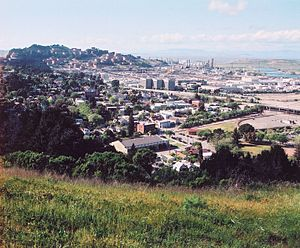 Richmond, California - Point Richmond seen from nearby Nicholl Knob