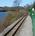 Points at the western end of the Llanberis Lake Railway at Penllyn (geograph 3968823).jpg