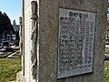 Pomník padlým vojakom v 1. svetovej vojne, Svätý Jur, Slovensko (bočný pohľad, ľavá strana).jpg