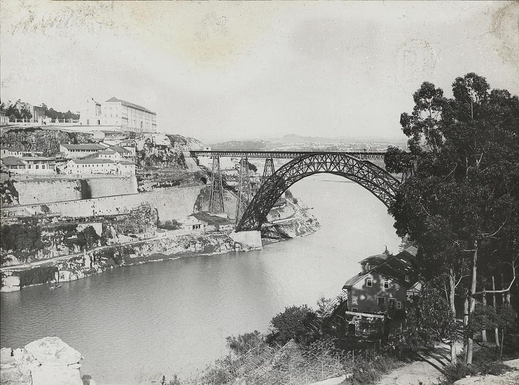 Photo du ponte Maria Pia à Porto Vers 1920 - Photo de Foto Guedes
