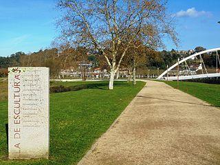 Island of Sculptures Sculptoric park in Pontevedra (Spain)