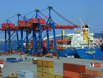 Port of Santos - Tecon Santos, of Santos Brasil- the largest container terminal in South America.