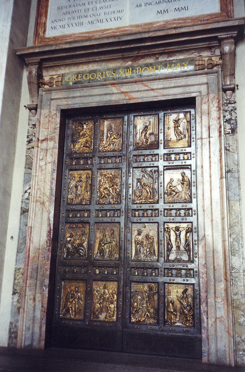 La Porta Santa della Basilica di San Pietro. dans immagini sacre 800px-Porta_Santa